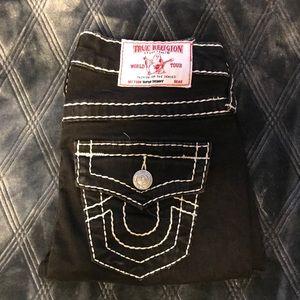 True Religion black super skinny jeans